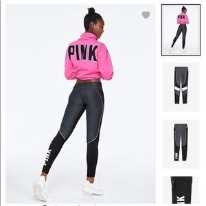 Pink Victoria's Secret ultimate colorblock legging